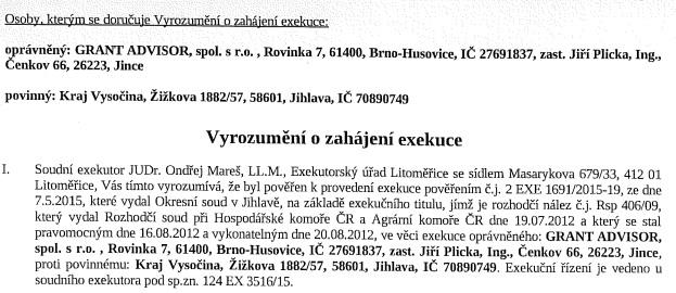 exekuceKraj Vysočina